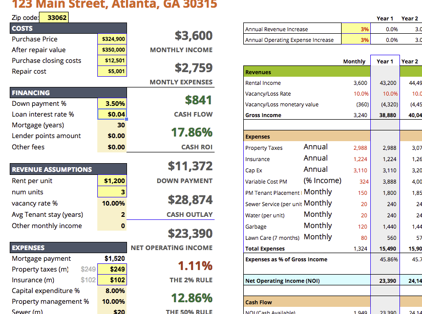 the ultimate real estate investing spreadsheet